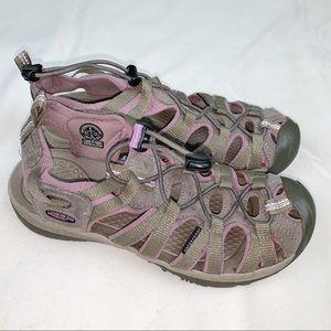 KEEN Whisper Brindle sandal, size 8